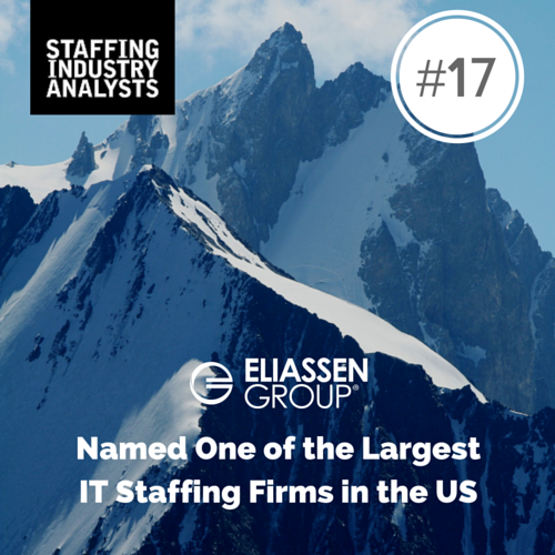 Eliassen Group crashes through top 20 list of Largest IT Staffing Firms in the US!