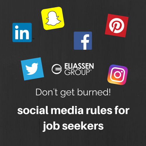 Don't get burned: social media rules for job seekers